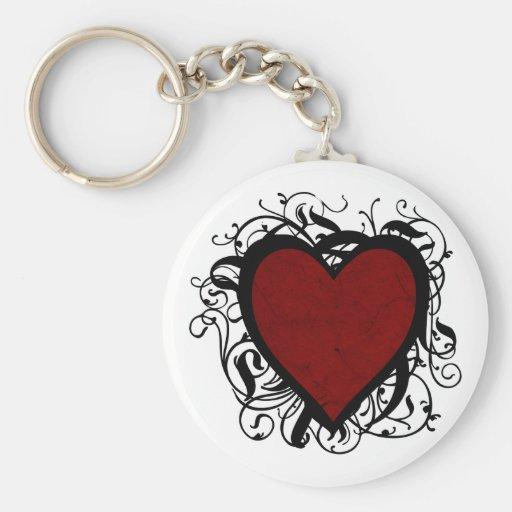 Decorative Heart Key Chains