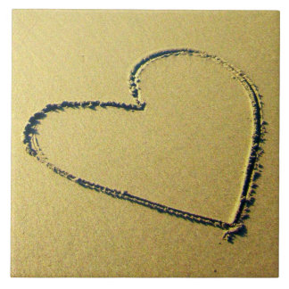 Decorative Heart Sand Drawing Tile