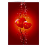 Decorative Hearts Thank You Card