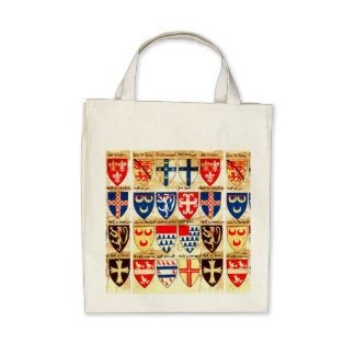 Decorative Heraldry Pattern Canvas Bag