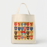 Decorative Heraldry Pattern Canvas Bag
