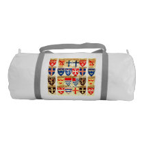 Decorative Heraldry Pattern Duffle Bag