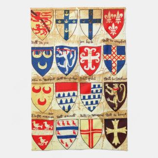 Decorative Heraldry Pattern Towel