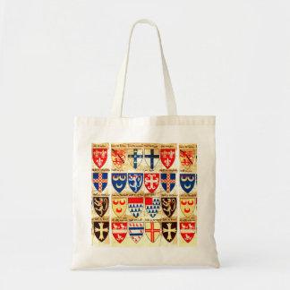 Decorative Heraldry Pattern Tote Bag