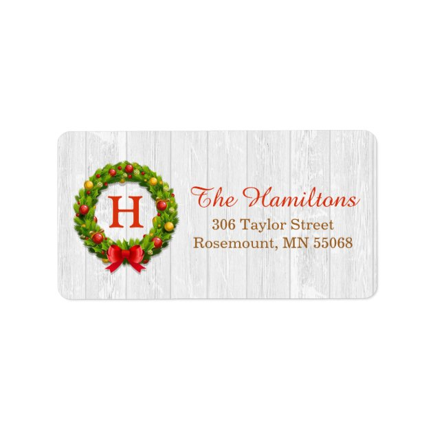 christmas holiday address labels mimoprints