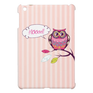 Decorative Hoot Owl On Tree iPad Mini Case