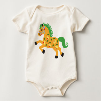 decorative horse with pears bodysuit