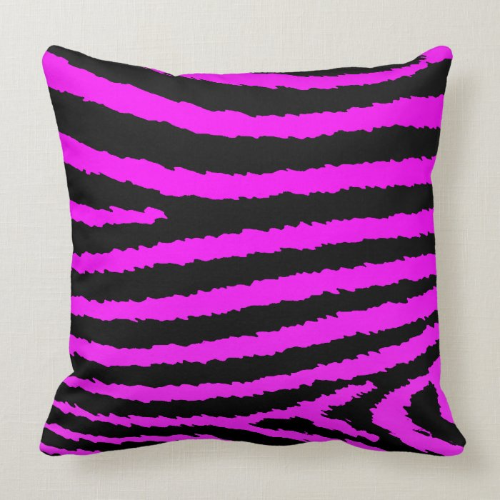 Pink Zebra Print Decorative Pillows : Decorative Hot Pink Zebra Print Pillow on PopScreen