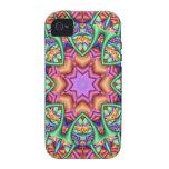 Decorative iPhone 4 case Rainbow Kaleidoscope