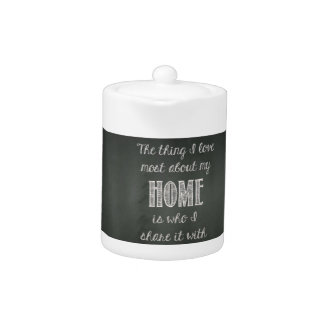 Decorative Jug With Home Quote Teapot