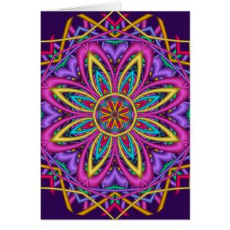 Decorative Kaleidoscope Happy Birthday card