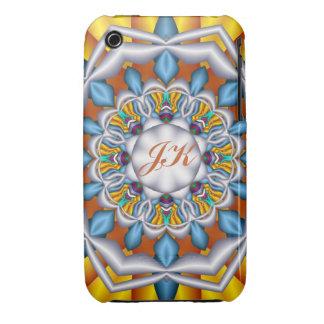 Decorative kaleidoscope. Monogram iPhone 3 case