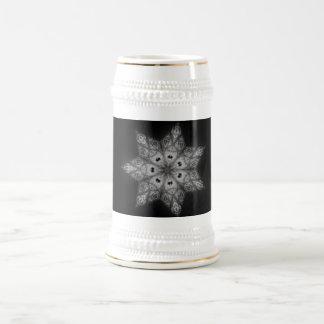Decorative Kaleidoscope Star Beer Stein