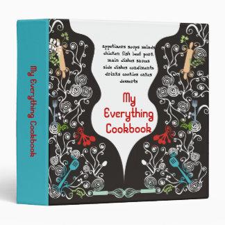 decorative kitchen utensils recipe binder