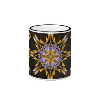 Decorative Lavender and Golden Star mug