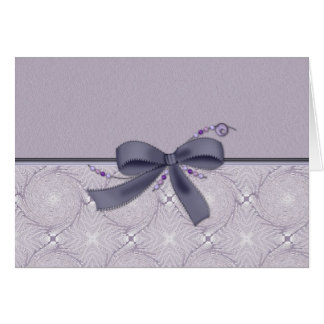 Decorative Lavender with Bow Card