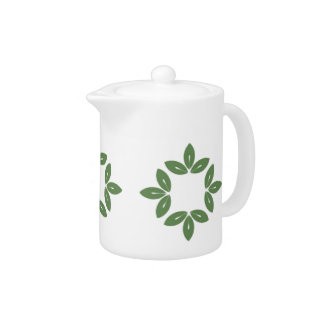 Decorative Leaf Art Tea Pot