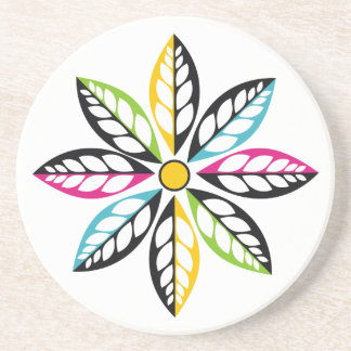 Decorative Leaves-Flower modern, abstract Drink Coaster