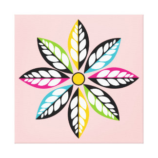 Decorative Leaves-Flower modern, abstract pink Canvas Print