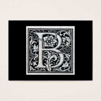 "Decorative Letter ""B"" Woodcut Woodblock Inital Business Card"
