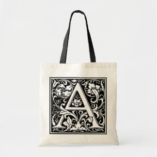 """DecorativeLetter Initial """"A"""" Tote Bags"""