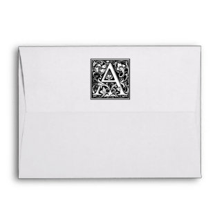 "Decorative Letter Initial ""A"" Envelope"