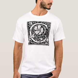 "Decorative Letter Initial ""C"" T-Shirt"