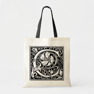 "Decorative Letter Initial ""C"" Tote Bag"