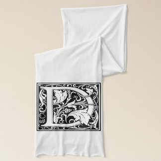 "Decorative Letter Initial ""D"" Scarf"