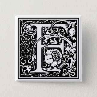 "Decorative Letter Initial ""F"" Button"