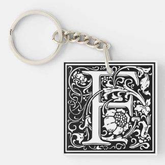 "DecorativeLetter Initial ""F"" Keychain"