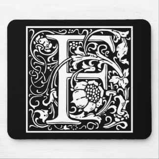 """DecorativeLetter Initial """"F"""" Mouse Pad"""