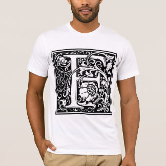 "Decorative Letter Initial ""F"" T-Shirt"