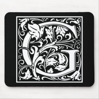 """DecorativeLetter Initial """"G"""" Mouse Pad"""