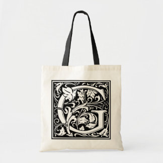 "DecorativeLetter Initial ""G"" Tote Bag"