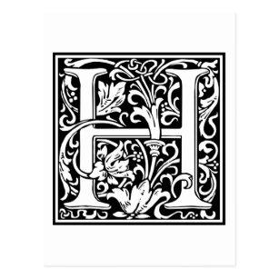 Initial letter h postcards zazzle decorative letter initial h postcard altavistaventures Choice Image