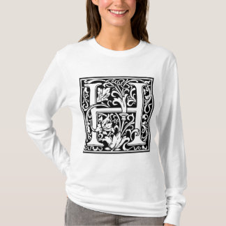 "Decorative Letter Initial ""H"" T-Shirt"