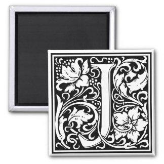 "DecorativeLetter Initial ""J"" 2 Inch Square Magnet"