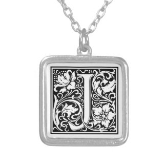"""DecorativeLetter Initial """"J"""" Silver Plated Necklace"""
