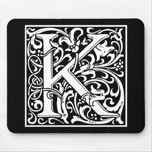 "DecorativeLetter Initial ""K"" Mouse Pad"