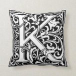 "DecorativeLetter Initial ""K"" Pillow"