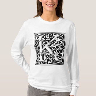 "Decorative Letter Initial ""K"" T-Shirt"