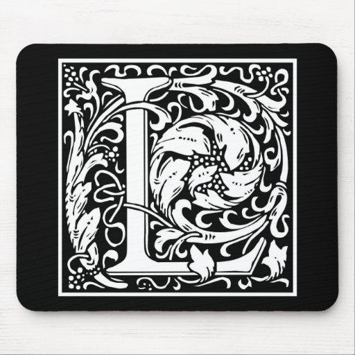 "DecorativeLetter Initial ""L"" Mousepads"