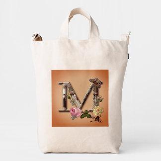 "Decorative Letter Initial ""M"" Duck Bag"