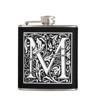 "DecorativeLetter Initial ""M"" Hip Flask"