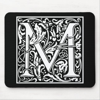 "Decorative Letter Initial ""M"" Mouse Pad"