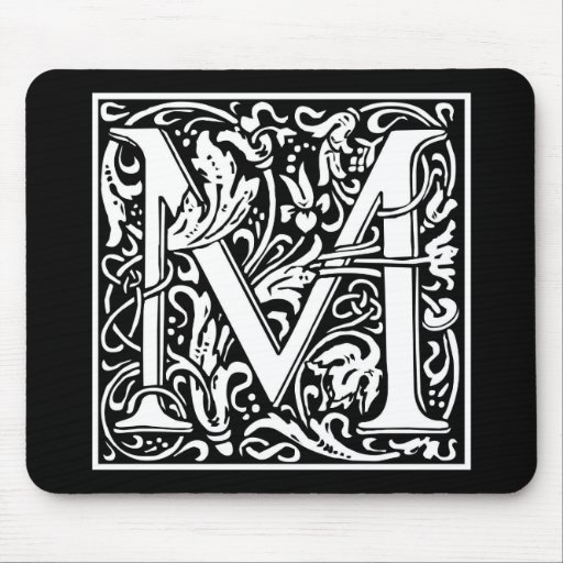 """DecorativeLetter Initial """"M"""" Mouse Pads"""