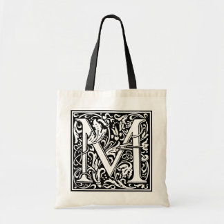 "DecorativeLetter Initial ""M"" Tote Bag"