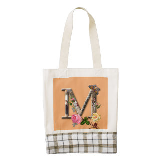 "Decorative Letter Initial ""M"" Zazzle HEART Tote Bag"