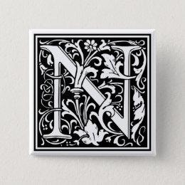 "DecorativeLetter Initial ""N"" Button"